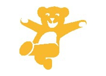 Key Chain Teeth with pink bows, 24 Pieces